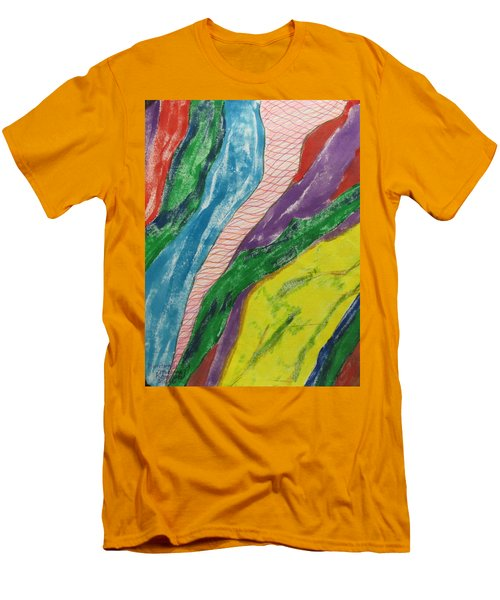 Men's T-Shirt (Slim Fit) featuring the painting Artwork On T-shirt - 0010 by Mudiama Kammoh