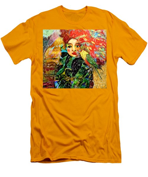 Men's T-Shirt (Slim Fit) featuring the digital art Talk To Me by Alexis Rotella
