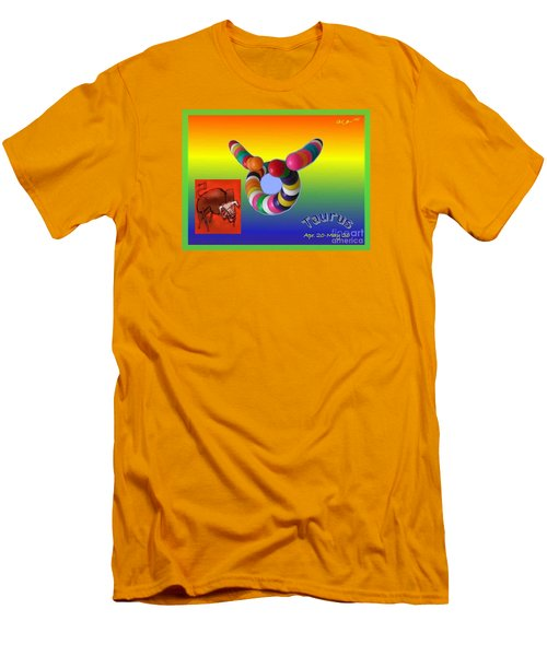 Men's T-Shirt (Slim Fit) featuring the painting Taurus by The Art of Alice Terrill