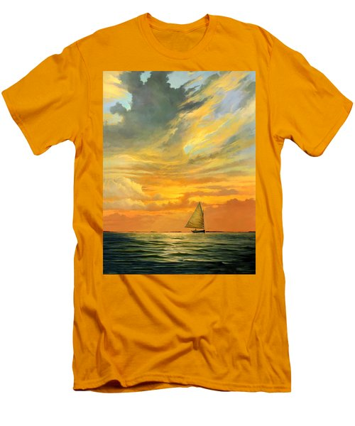 Ten Thousand Islands Men's T-Shirt (Slim Fit) by David  Van Hulst