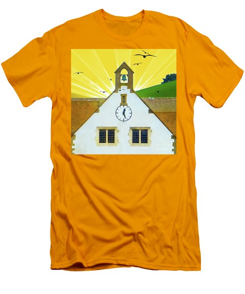 Men's T-Shirt (Athletic Fit) featuring the photograph The Church Bell by LemonArt Photography