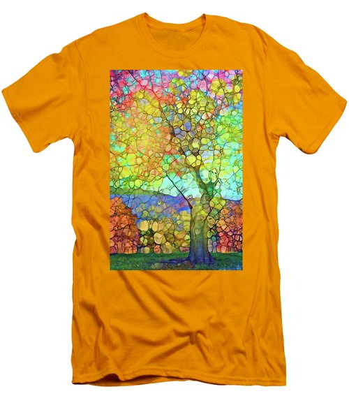 Men's T-Shirt (Slim Fit) featuring the digital art The Contagious Laughter Of Trees by Tara Turner