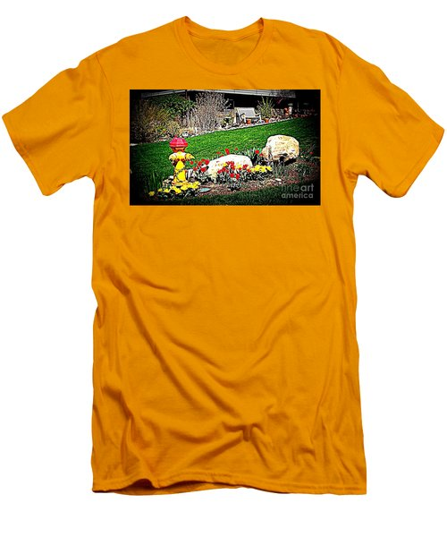 Men's T-Shirt (Slim Fit) featuring the photograph The Gardener by Richard W Linford