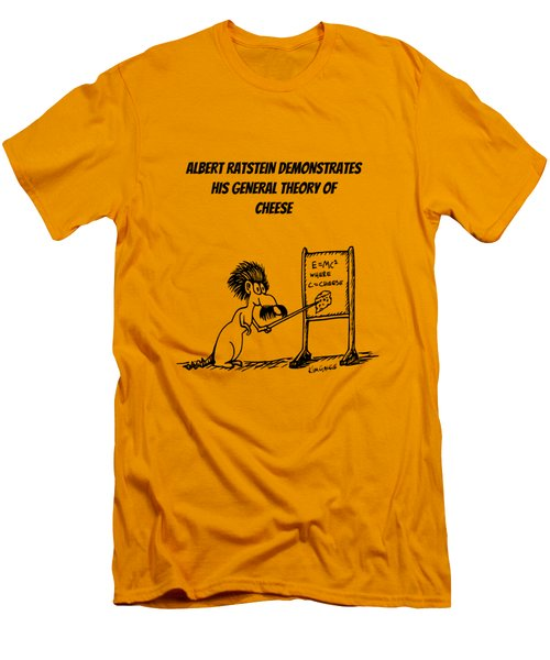 Men's T-Shirt (Slim Fit) featuring the drawing The General Theory Of Cheese by Kim Gauge