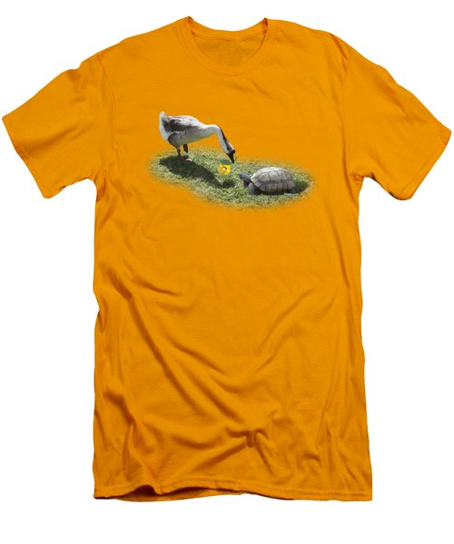 The Goose And The Turtle Men's T-Shirt (Slim Fit) by Gravityx9   Designs