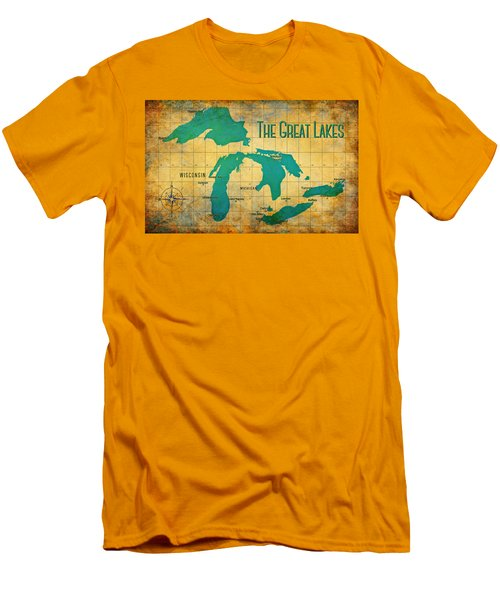 The Great Lakes Men's T-Shirt (Slim Fit) by Greg Sharpe