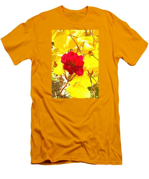 The Last Rose Of Autumn Men's T-Shirt (Slim Fit) by Anastasia Savage Ealy