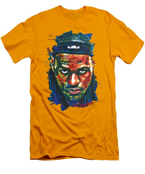 The Lebron Death Stare Men's T-Shirt (Slim Fit) by Maria Arango