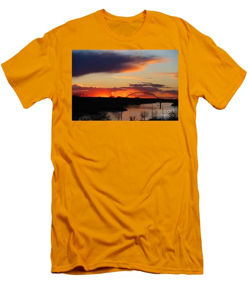 The Other Side Of The Bridge  Men's T-Shirt (Slim Fit) by Yumi Johnson