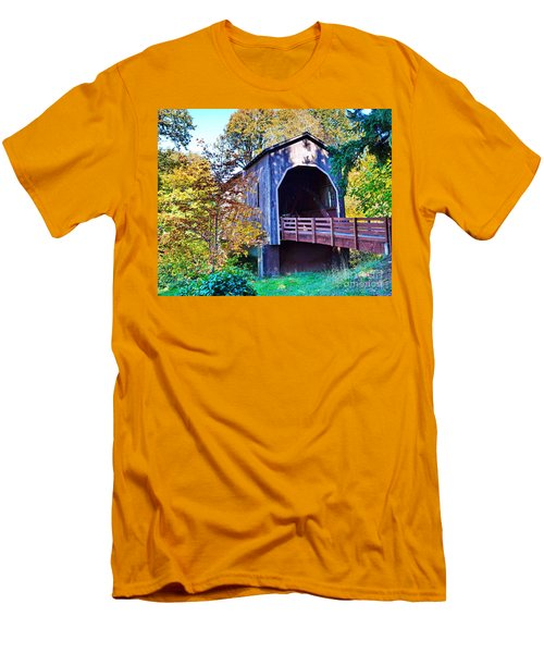 The Pass Creek Covered Brkidge Men's T-Shirt (Athletic Fit)