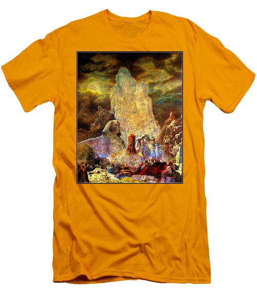 Men's T-Shirt (Slim Fit) featuring the painting The Valley Of Sphinks by Henryk Gorecki