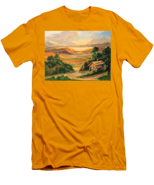 The Warmth Of Sunset Men's T-Shirt (Slim Fit) by Remegio Onia