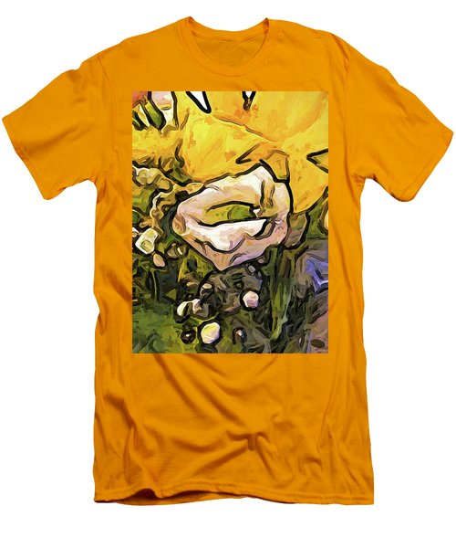 The White Rose With The Eye And Gold Petals Men's T-Shirt (Athletic Fit)