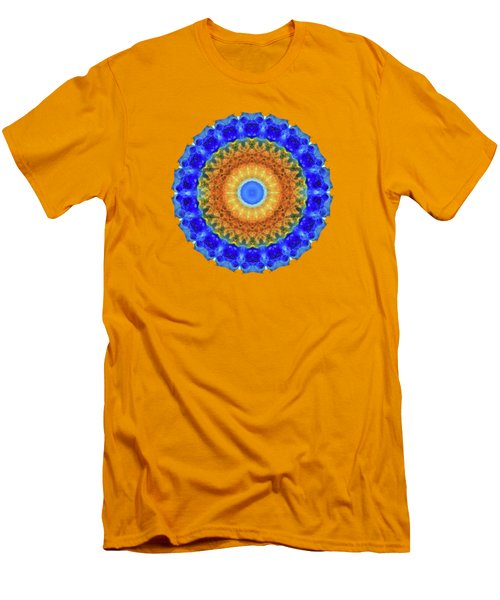 Men's T-Shirt (Slim Fit) featuring the painting Third Eye Mandala Art By Sharon Cummings by Sharon Cummings
