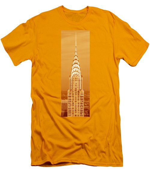 Chrysler Building At Sunset Men's T-Shirt (Slim Fit) by Panoramic Images