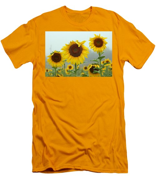 Three Amigos In A Field Men's T-Shirt (Slim Fit) by Karen McKenzie McAdoo