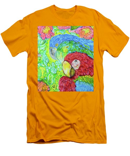 Men's T-Shirt (Slim Fit) featuring the painting Three Amigos by Susan D Moody