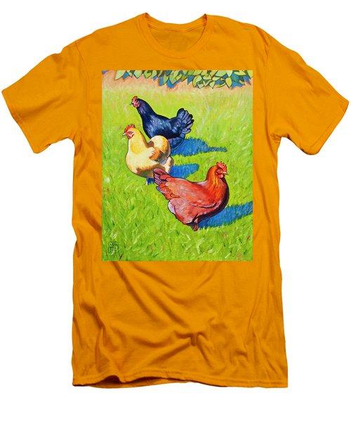 Three Girls Men's T-Shirt (Athletic Fit)