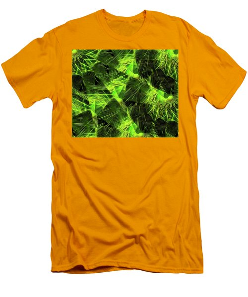 Men's T-Shirt (Slim Fit) featuring the digital art Threshed Green by Ron Bissett