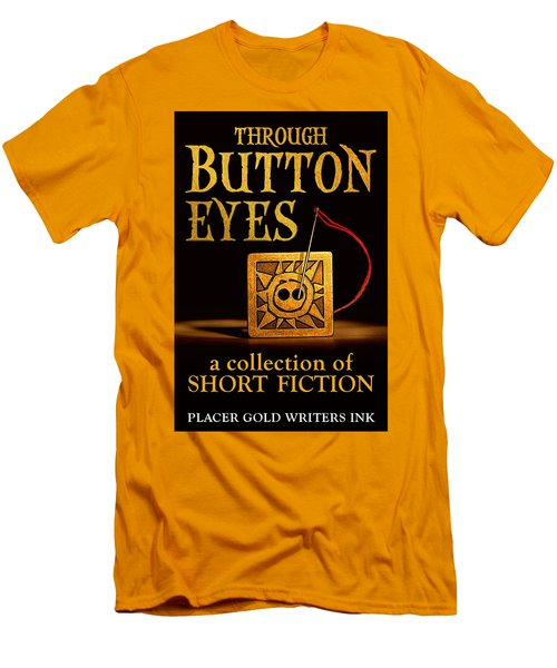 Men's T-Shirt (Slim Fit) featuring the mixed media Through Button Eyes by Patrick Witz