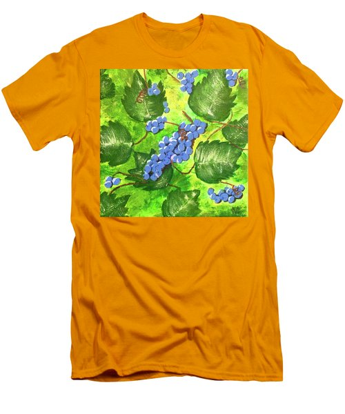 Men's T-Shirt (Slim Fit) featuring the painting Through The Vines by Cynthia Morgan
