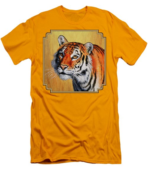Tiger Portrait Men's T-Shirt (Slim Fit) by Crista Forest