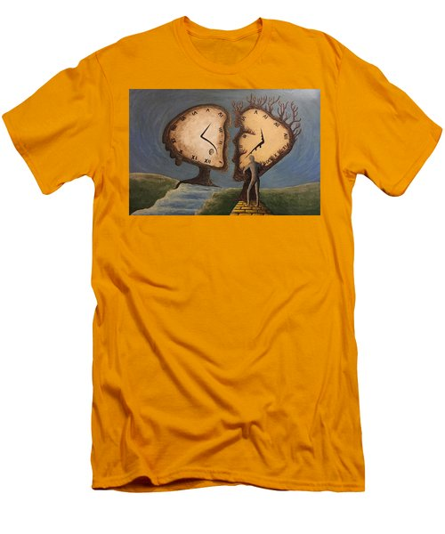 Time Travel 2016 Men's T-Shirt (Slim Fit) by Steve  Hester