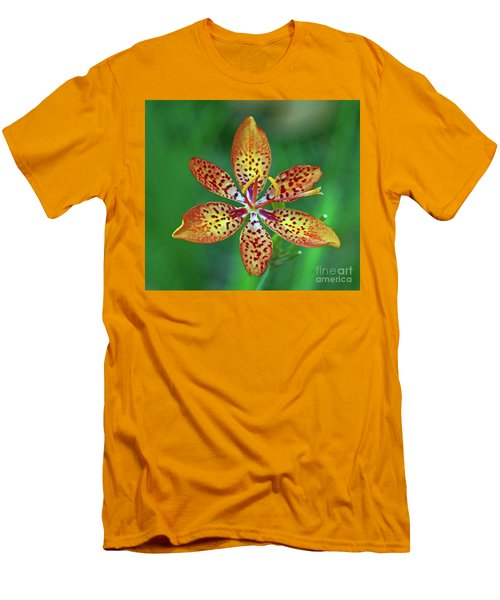 Tiny Tropical Lily Men's T-Shirt (Athletic Fit)