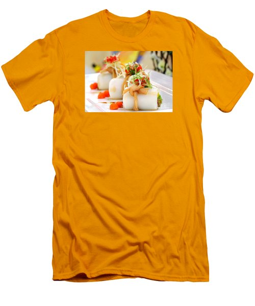 Traditional Chinese Hakka Rice Noodle Roll Men's T-Shirt (Athletic Fit)