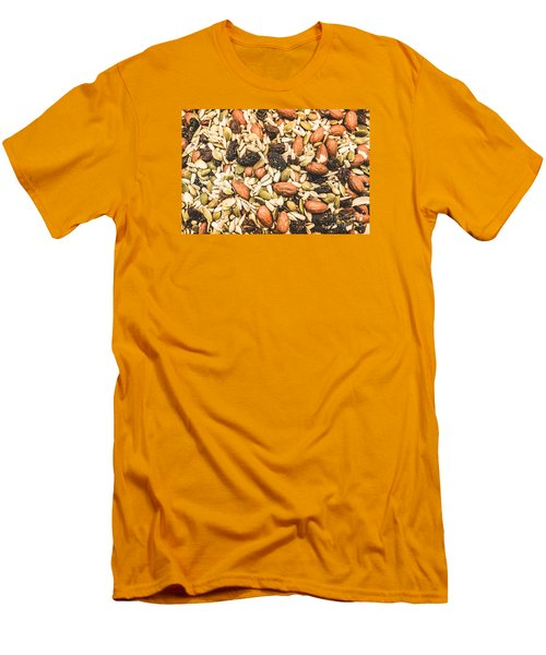 Men's T-Shirt (Athletic Fit) featuring the photograph Trail Mix Background by Jorgo Photography - Wall Art Gallery