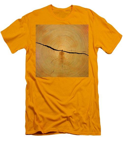 Tree Rings Men's T-Shirt (Slim Fit) by Steven Ralser