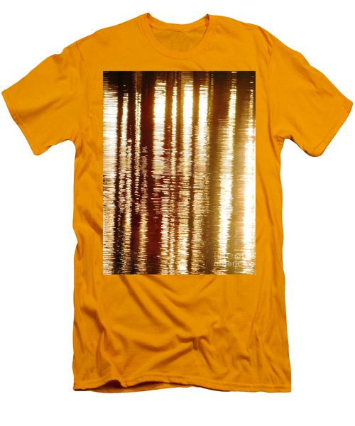 Trees On Rippled Water Men's T-Shirt (Slim Fit) by Melissa Stoudt