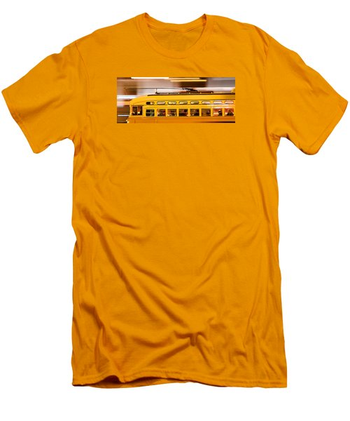 Men's T-Shirt (Slim Fit) featuring the photograph Trolley 1052 On The Move by Steve Siri