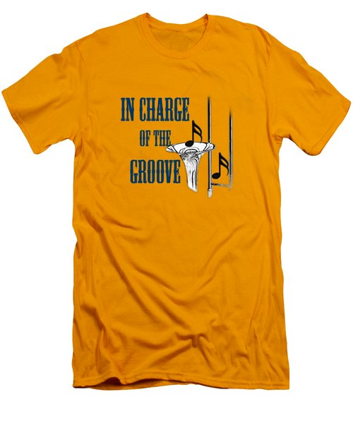 Trombones In Charge Of The Groove 5533.02 Men's T-Shirt (Slim Fit) by M K  Miller
