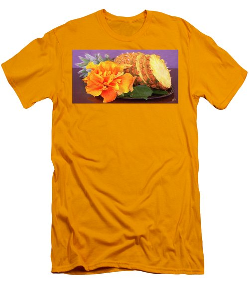 Tropical Delight Still Life Men's T-Shirt (Slim Fit) by Ben and Raisa Gertsberg