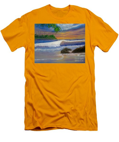 Tropical Dream Men's T-Shirt (Slim Fit) by Holly Martinson