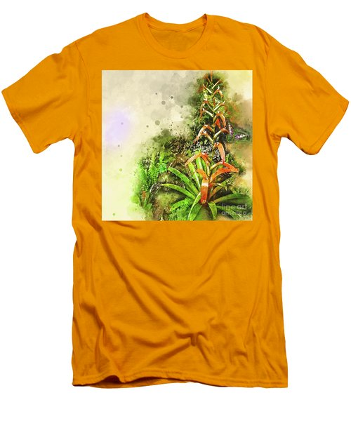 Tropical Orange Men's T-Shirt (Slim Fit) by Deborah Nakano