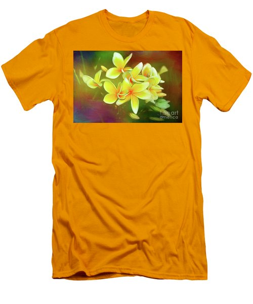 Men's T-Shirt (Athletic Fit) featuring the photograph Tropical Plumeria Art By Kaye Menner by Kaye Menner