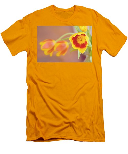 Men's T-Shirt (Athletic Fit) featuring the photograph Tulip Beauty by Deborah  Crew-Johnson