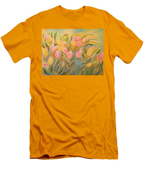 Tulips Men's T-Shirt (Slim Fit) by Theresa Marie Johnson