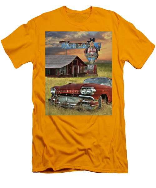 Men's T-Shirt (Slim Fit) featuring the photograph Tumble Inn by Lori Deiter