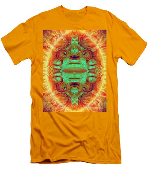 Turquoise Fire Men's T-Shirt (Athletic Fit)
