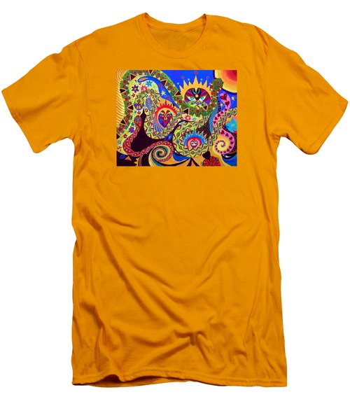 Men's T-Shirt (Slim Fit) featuring the painting Serpent's Dance by Marina Petro