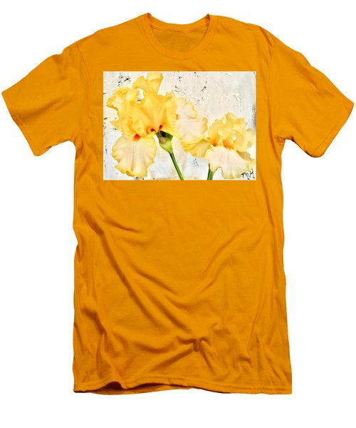 Two Yellow Irises Men's T-Shirt (Athletic Fit)