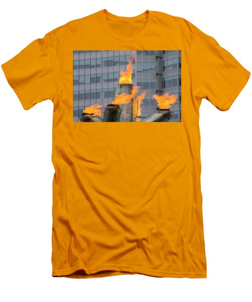 Vancouver Olympic Cauldron 2 Men's T-Shirt (Slim Fit) by Ross G Strachan