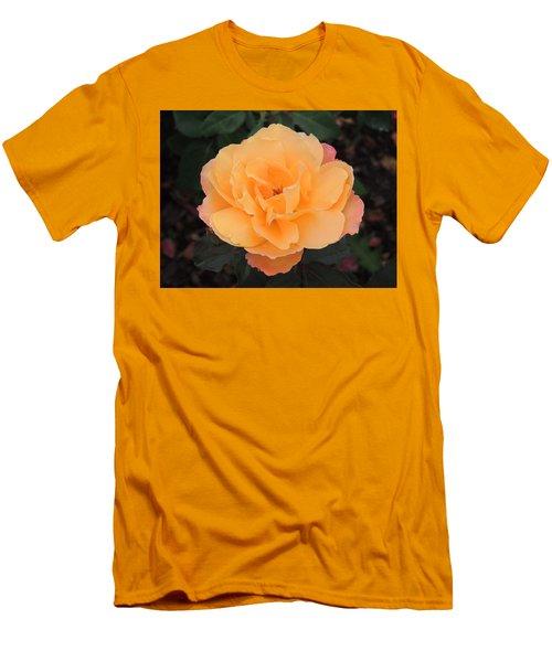 Velvety Orange Rose Men's T-Shirt (Athletic Fit)