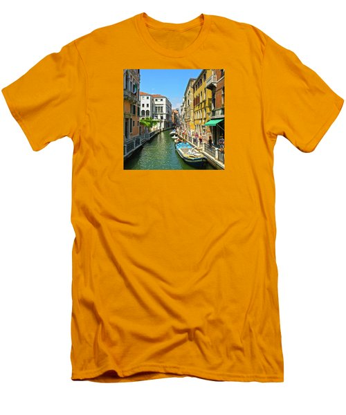 Men's T-Shirt (Athletic Fit) featuring the photograph Venetian Sunshine by Anne Kotan