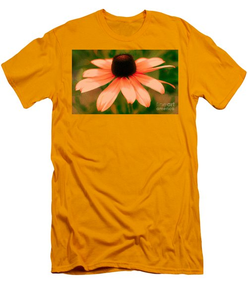 Vibrant Orange Coneflower Men's T-Shirt (Athletic Fit)
