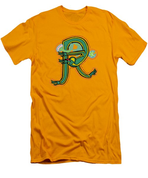 Vintage Letter R Frog Men's T-Shirt (Athletic Fit)