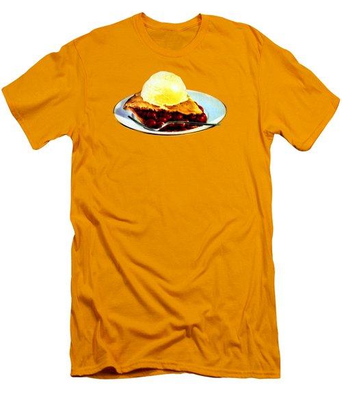 Vintage Pie A La Mode Men's T-Shirt (Slim Fit) by Historic Image